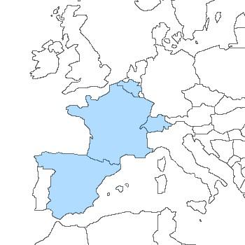 carte espagne france belgique